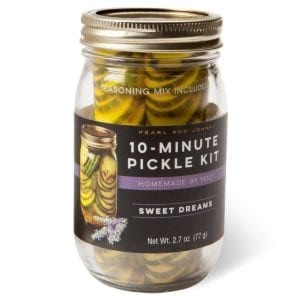 Pearl and Johnny 10-Minute Pickle Kit Sweet Dreams jar kit.